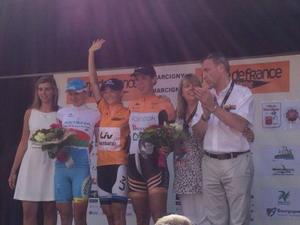 Aude Biannic (Lointek Team) tercera en la Route de France