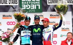 Valverde gana la Bastoñe Lieja y lidera el ranking UCI