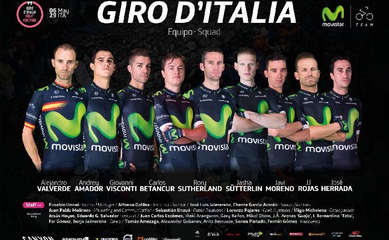 Alejandro Valverde ya tienen equipo para conquistar el Giro