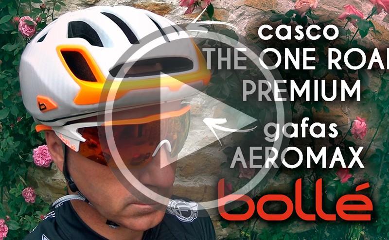 Casco The One Road Premium y gafas Aeromax de Bollé