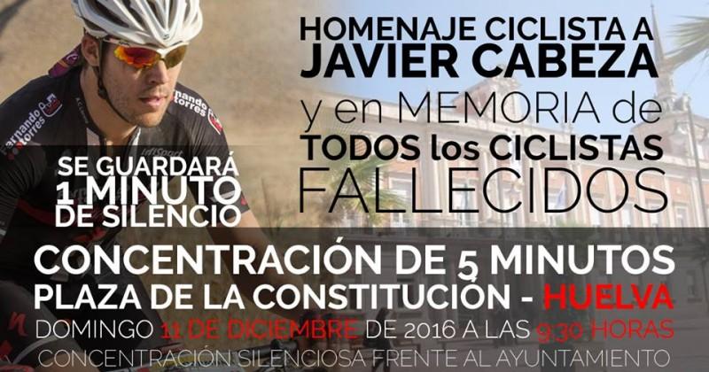 Concentraciones en homenaje a Fco. Javier Cabeza en Andalucía