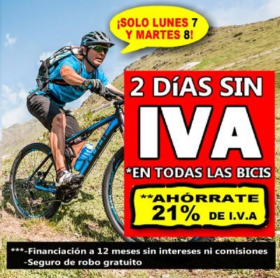 Dos días sin IVA en preciosbicicletas.es