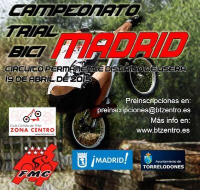 El Campeonato de Madrid de Trial arrancará en Usera