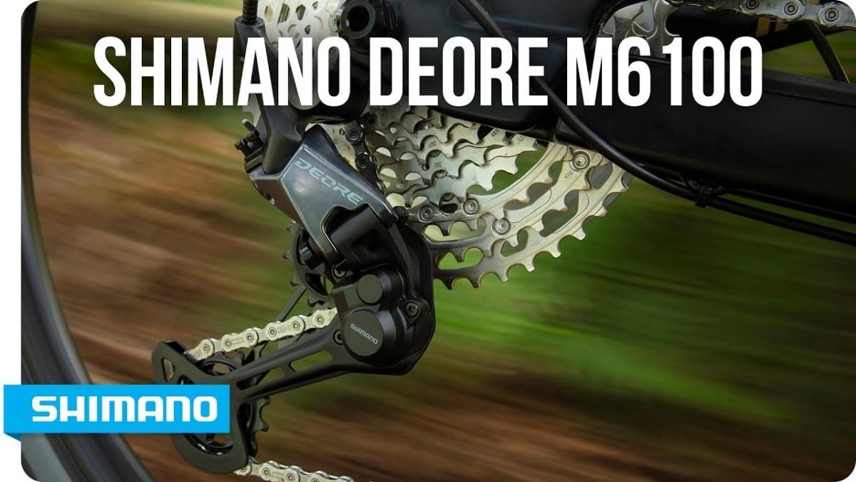 El Deore M6100 de Shimano también disponible en 12 velocidades