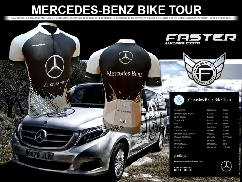 Faster wear maillot oficial mercedes benz bike tour for Mercedes benz wear
