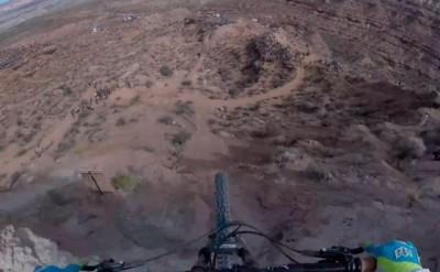 Increíble descenso en el RedBull Rampage desde cámara subjetiva