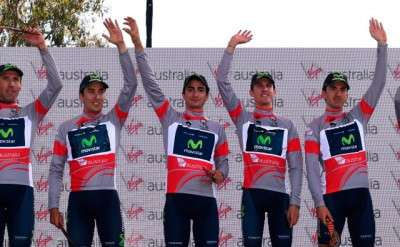 Movistar Team ganador por equipos en el Tour Down Under