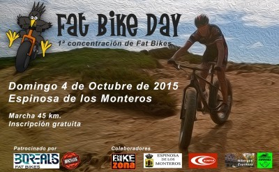Planning para los inscritos en el I Fat Bike Day