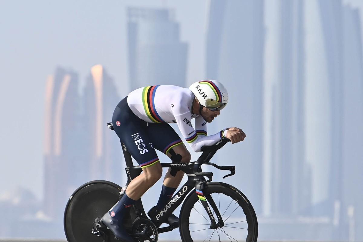 Tadej Pogacar nuevo líder del UAE Tour, Filippo Ganna  se lleva la crono