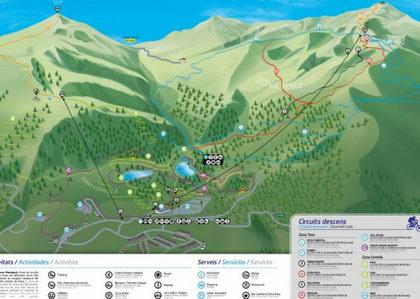 13 pistas de descenso en la Molina BIke Park