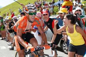 Euskaltel con los mejores en la etapa reina del Tour