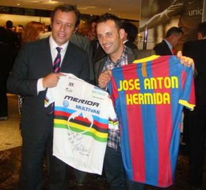 Jose Antonio Hermida con el Barca