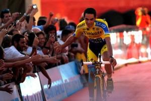 Alberto Contador preparado para correr La Vuelta