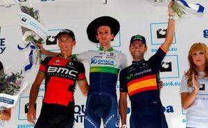 Alejandro Valverde también sube al podio en San Sebastian