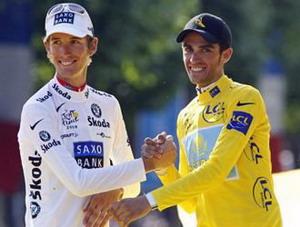 Tour de France: Schleck gana, Contador a su lado