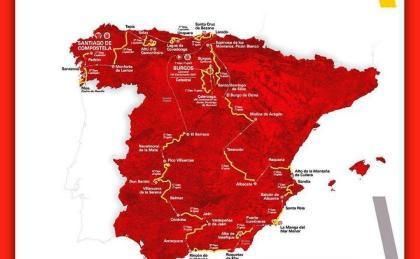 Así es el recorrido de La Vuelta 2021 que comenzará en Burgos el 14 de agosto