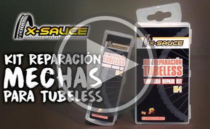 Así funciona: Kit de mechas para reparación de tubeless de X-SAUCE