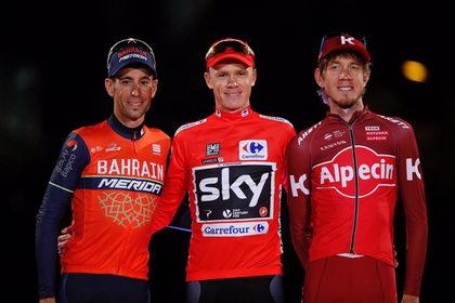 Así quedaría el podio de La Vuelta a España 2017