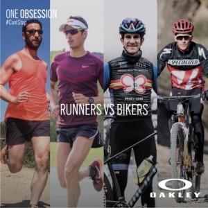 Bikers Vs Runners en el Oakley #cantstop Challenge
