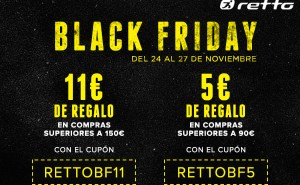 Black Friday y Cyber Monday en Retto