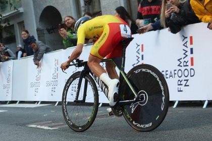 Castroviejo no lucho por los puestos de podio en la crono de Bergen