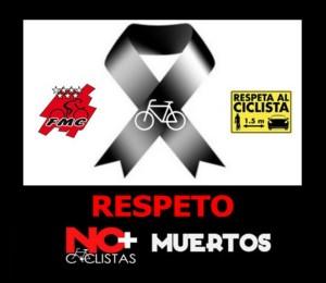 Concentración por el respeto a los ciclistas en la Puerta del Sol