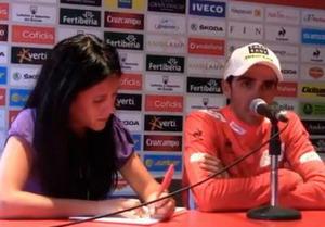 Rueda de prensa de Alberto Contador tras Fuente Dé