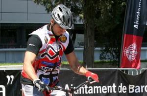 César Cañas y Dani comas espectáculo en el BikeShow