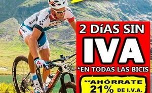 Dos días sin IVA en Bicicletas Pasaje