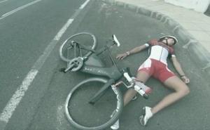 El impactante vídeo de Saleta Castro pidiendo respeto para los ciclistas
