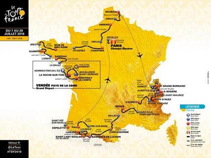 Etapas Tour de Francia 2018