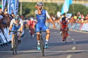 Fernando Gaviria primer líder de la Vuelta a San Juan