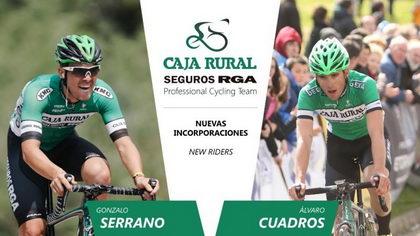 Gonzalo Serrano y Álvaro Cuadros suben al Caja Rural-Seguros RGA