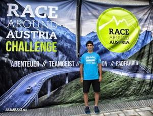 Julian Sanz participa desde mañana en la  Race Around Austria