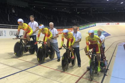 La cuarteta no pasa el corte de la persecución por equipos masculina