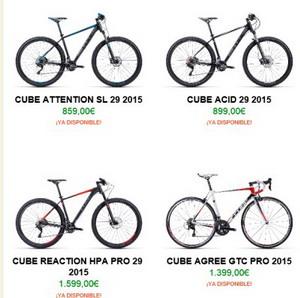La gama Cube 2015 ya disponible en biciandbike