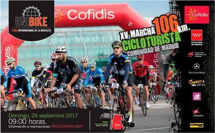 La marcha cicloturista Unibike recorrerá 106 km por carreteras madrileñas