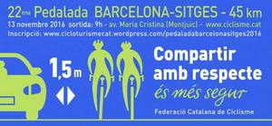 La Pedalada Barcelona-Sitges vuelve a las carreteras