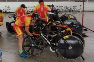 La selección española de pista prepara el Mundial de Cali