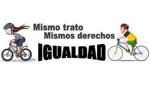 Las ciclistas reivindican sus derechos en Llodio y Muskiz