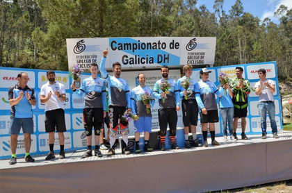 Manuel Pellón reinó en el Campeonato de Galicia de Descenso