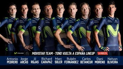 Movistar Team anuncia su equipo para la Vuelta a España 2017