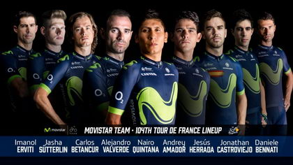 Movistar Team ya tiene equipo para luchar por el Tour 2017