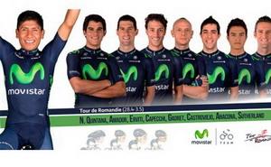 Nairo Quintana lidera a Movistar Team en el Tour de Romandía