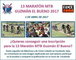 Participa y gana una inscripción para la MTB Guzmán el Bueno