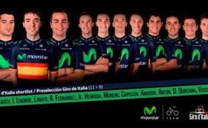 Preselección de Movistar Team para el Giro de Italia 2015