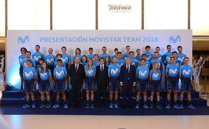 Presentado el renovado Movistar Team 2018