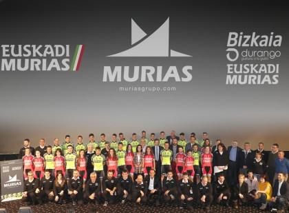 Presentados el Euskadi-Murias Profesional Continental y Bizkaia Durango-Euskadi Murias femenino