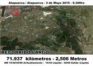 Recorrido I Bike Maratón Encuentro de Caminos Sierra Atapuerca