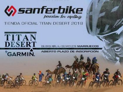 Sanferbike se convierte en la tienda oficial de la Titan Desert 2018
